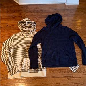 Lightweight striped sweatshirts (two pack!)